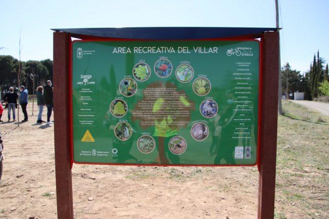 Panel informativo del Villar